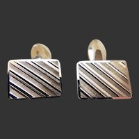Gold Cufflinks Double Sided 18 Karat Mid-Century c1950's