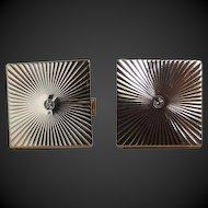 Cufflinks 14K Yellow Gold Diamond c1980's