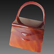 Wilardy Original Lucite Purse Double Opening Mid-Century Modern c1950's