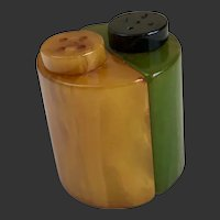 Bakelite Salt & Pepper Shakers Art Deco c1930's
