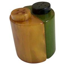 Bakelite Salt & Pepper Shakers Art Deco c1930's