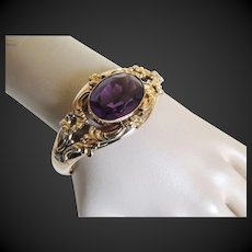 Victorian Bracelet Gold Filled Glass Stone Circa Late 1800's
