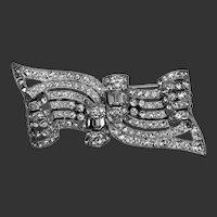 Coro Duette Dress Clips Pin Art Deco Signed c1932