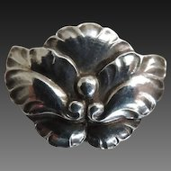 Georg Jensen Sterling Brooch #107 c1947