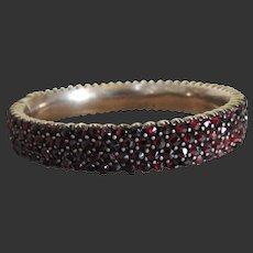 Victorian Garnet Bangle Bracelet Early 20th Century