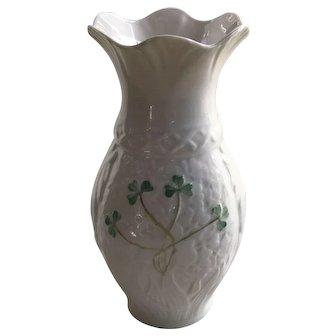 Belleek porcelain vase