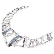 European .800 silver brutalist Necklace