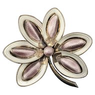 "2.5"" Aksel Holmsen Norway silver and enamel Pin Brooch"