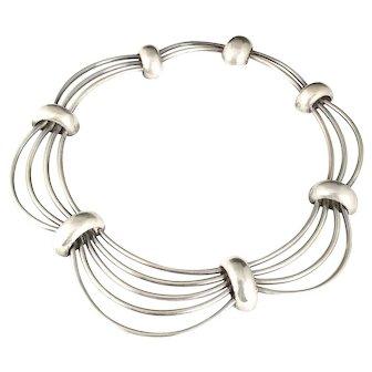 Antonio Pineda 970 Mexican silver cosmos or the cage Necklace