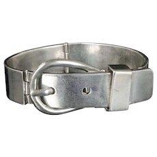 pre-1948 Mexican silver mod buckle Bracelet