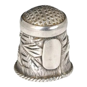early Taxco 980 Mexican silver Thimble - engravable