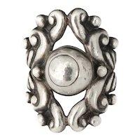 ornate Gerardo Lopez Mexican silver Ring