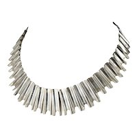 vintage Mexican silver Taxco modernist Necklace