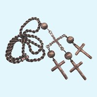 Incredible, Massive Sterling Crosses Pendant Necklace, 116.7 Grams!!  Yalalag Design