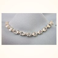 """Stunning, Icy Sterling Silver and 15 CTW White Topaz 7-1/2"""" Line Bracelet"""
