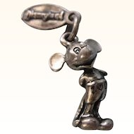 Vintage Disneyland Mickey Mouse, Walt Disney Productions, Sterling Silver 3-D Charm