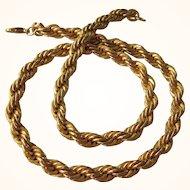 """Vintage Chunky Goldtone 18"""" Choker Necklace"""