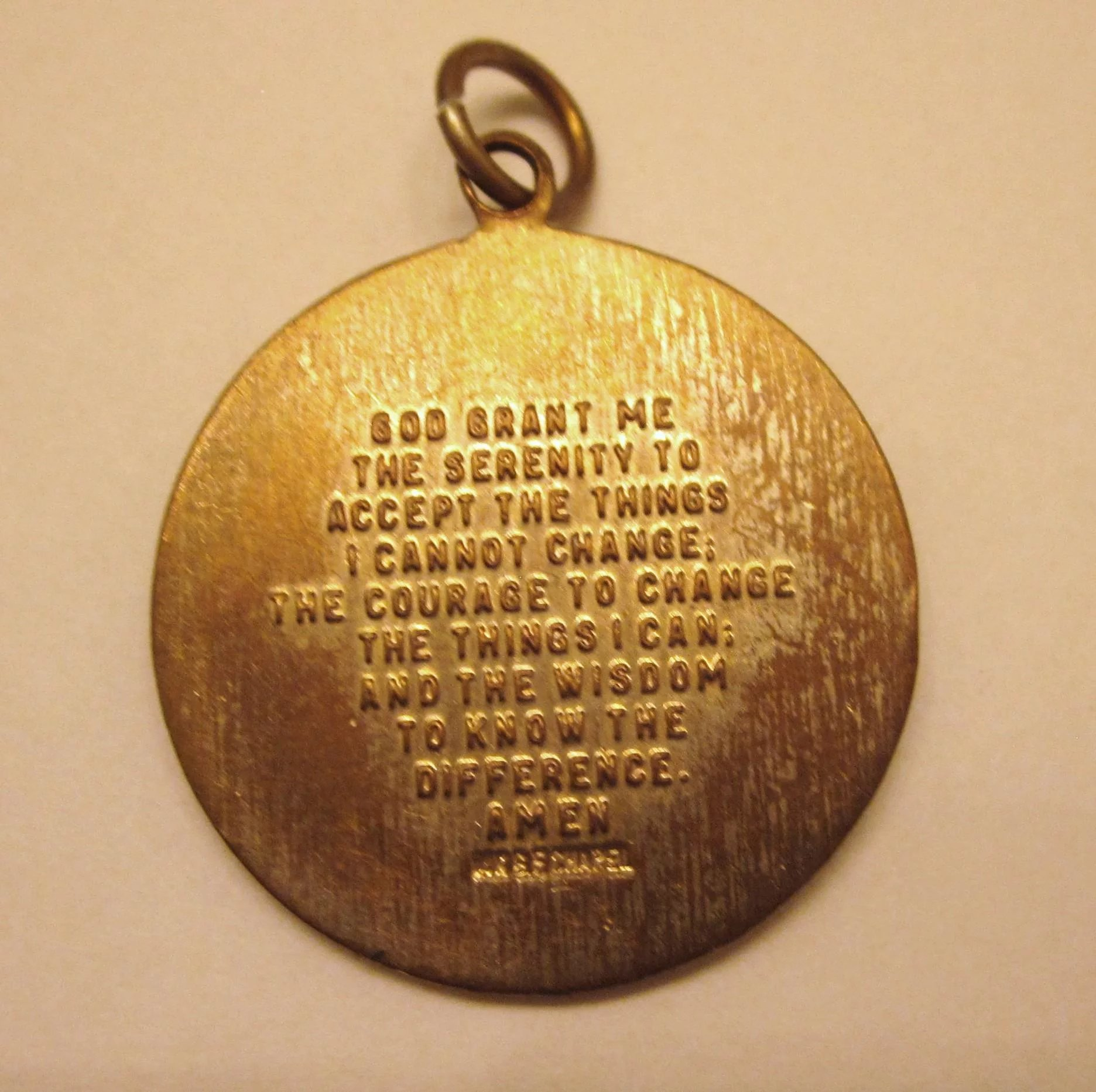 Vintage gold filled serenity prayer pendant charm del mar ii vintage gold filled serenity prayer pendant charm click to expand aloadofball Images