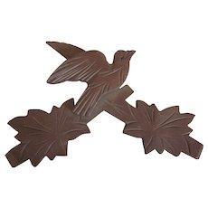 Vintage Black Forest Carved Bird Ornament