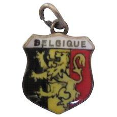 Vintage Belgique Belgium Crest Travel Charm