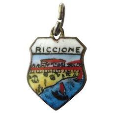 Vintage Enamel Riccione Enamel Travel Crest Charm