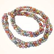 """Faux Pearl Multicolor Torsade 18"""" Necklace"""