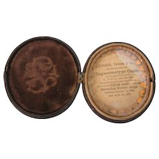 Scarce Advertising Civil War Era Union Daguerreotype Case, Littlefield, Parsons & Co., Civil War Era