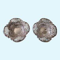 Ornate Victorian Sterling Birmingham England Nut, Mint or Ring Dish