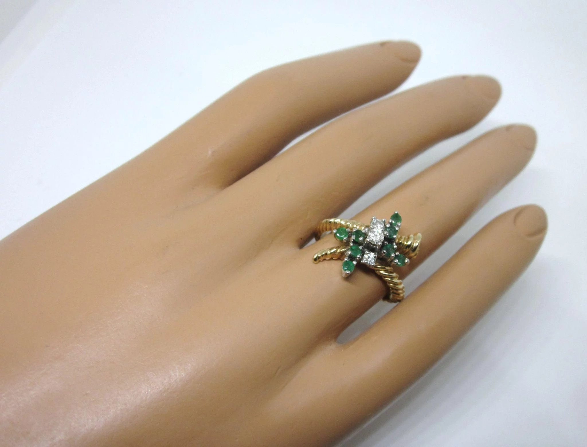 Dazzling Vintage Signed Trubrite 14k Gold Diamond And