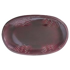 "Vintage Japanese Lacquerware Handsome Oval 9"" Tray or Dish"