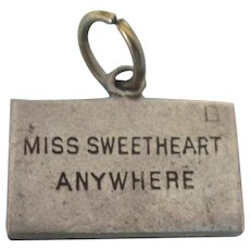 Scarce Sterling Miss Sweetheart Anywhere Envelope Charm