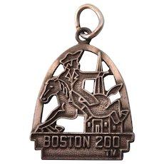 Vintage Sterling Boston 200 Bicentennial Charm, Paul Revere