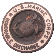 WW II U.S. Marine Corps Honorable Discharge Lapel Pin Stud Pin