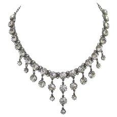 Dazzling Drippy Crystal Drippy Rhinestone Vintage Necklace