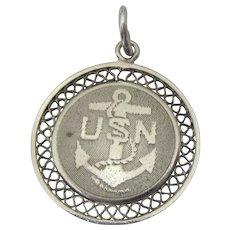 Sale!  Vintage Sterling USN Charm or Pendant