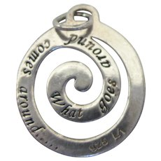 Sterling 'What Goes Around Comes Around' Karma Charm