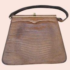 Stunning Vintage Palizzio ... Very New York Lizard Skin Brown Purse - Excellent Condition!