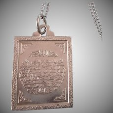 """Sterling Silver Arabic Pendant and 18"""" Sterling Chain"""