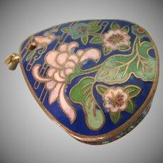 Vintage Cloisonne Loupe Magnifying Glass Pendant - Lorgnette
