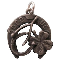 Old Good Luck Charm - Horseshoe, Wishbone, Four Leaf Clover