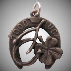 Old Good Luck Charm - Horseshoe, Wishbone, Four Leaf Clover