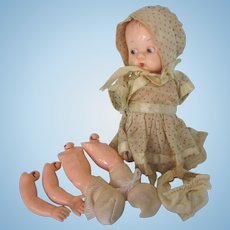 Vintage Ideal Baby Doll For Parts