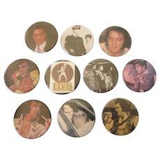 """Group of 10 Elvis Presley 2-1/4"""" Badges"""