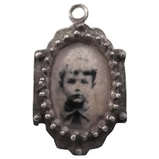 Old Two Sided Pendant - Photo and Double-Headed Eagle