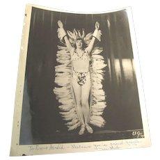 Vintage Photographs (2) of Vaudeville Dancer Ma Belle