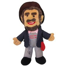 Autographed Boxcar Willie Plush Hobo Doll, 1994, Country Music
