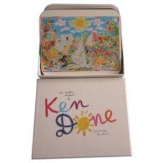 Vintage Ken Done by Jason Set of Six Australian Animal Coasters, Like New