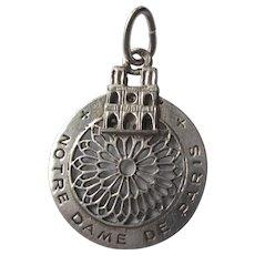 Vintage Sterling Notre Dame De Paris Unusual Charm