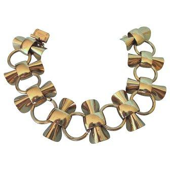 Stunning Vermeil Art Deco Signed Napier Bold Bracelet, 50.0 Grams!