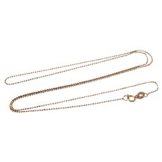 """Italian 14K Rose Gold 22"""" Faceted Ball or Bead Link Chain"""